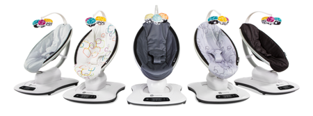 4moms Fotelik leżaczek bujaczek dla niemowląt mamaRoo Plush Multicolor