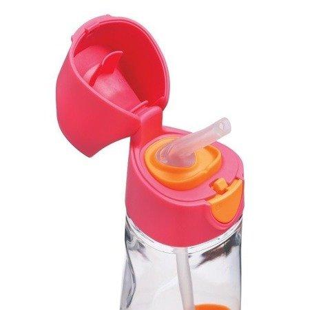B.Box Tritanowa butelka ze słomką 450ml strawberry shake