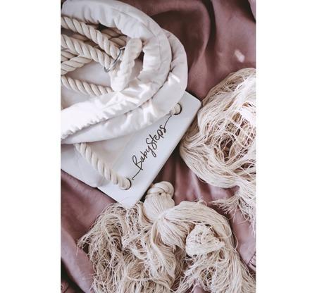 Baby Steps Huśtawka WoodSwing Soft Pink