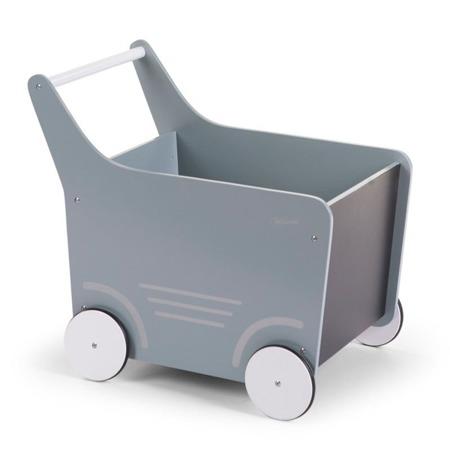 Childhome Drewniany wózeczek Miętowy