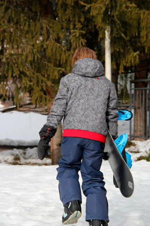 Ducksday Rękawiczki narciarskie ocieplane z długim mankietem rozmiar S black