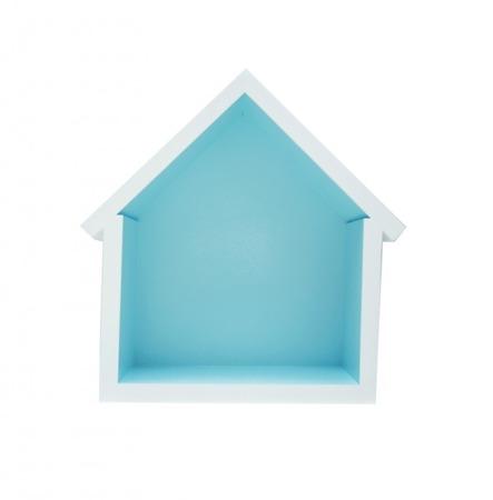 Dziecięca półeczka mały domek, Niebieska