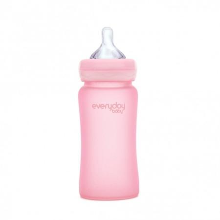 Everyday Baby Szklana butelka 240 ml różany róż