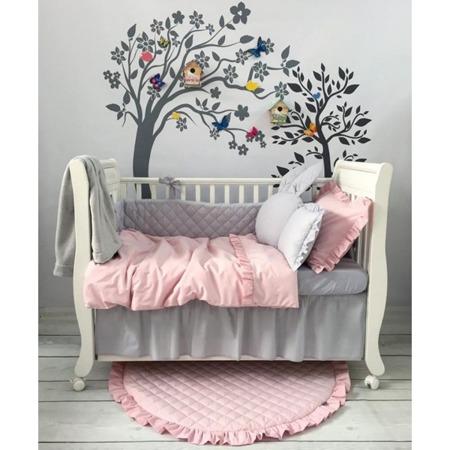 Falbanka pod materac na całe łóżeczko 60/120 biała, Dolly