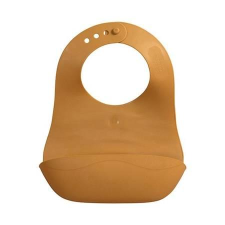 Filibabba Śliniak gumowy z kieszonką Golden Mustard