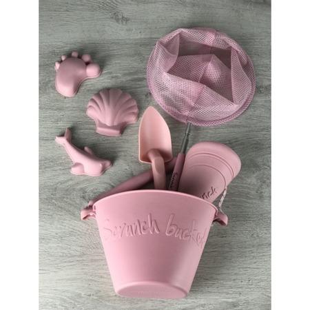 Funkit World Siatka Scrunch pudrowy róż