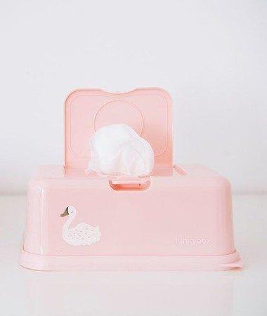 Funkybox Pojemnik na chusteczki pink swan