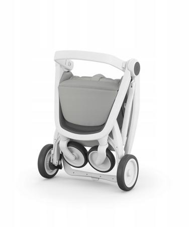 Greentom Classic Wózek spacerowy EKO biało-szary