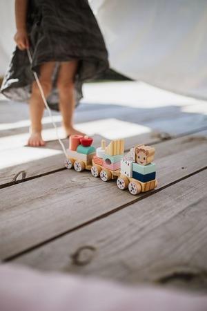 Janod Pociąg z klockami do ciągnięcia Żyrafka Sophie