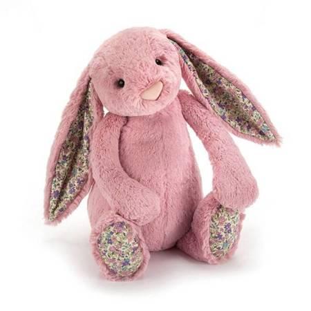 Jellycat Przytulanka króliczek różowy uszka w kwiatki 18cm
