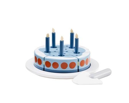 Kids Concept Bistro Tort urodzinowy drewniany niebieski
