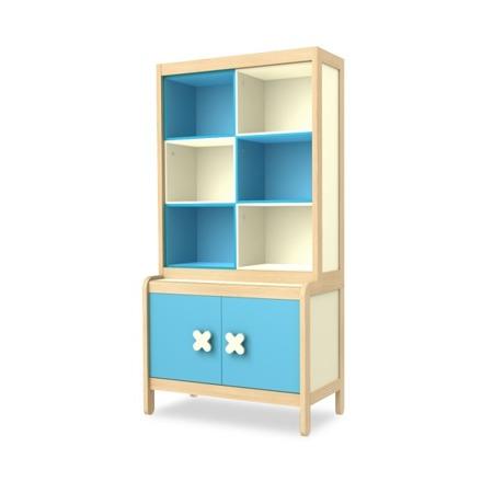 Kredens 2 drzwiowy niebieski Timoore Simple