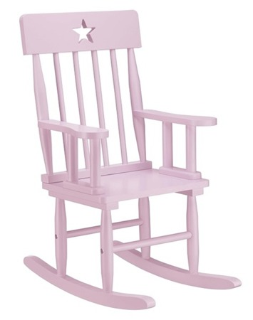 Krzesełko z Gwiazdkami Bujane Róźowe Kids Concept