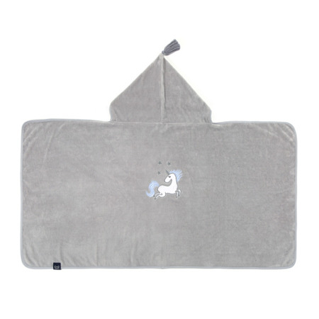La Millou Ręcznik Bamboo Soft Kid Unicorn Rainbow Knight grey