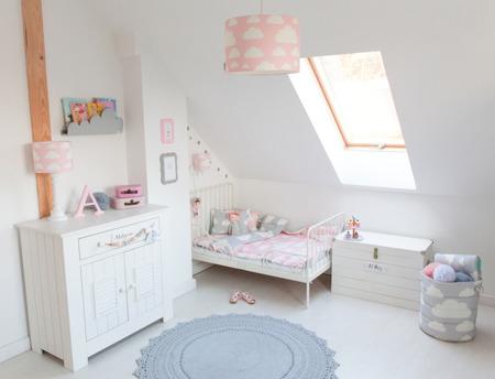 Lampa dla dzieci Chmurki Pink