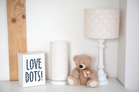 Lampka nocna dla dzieci Lovely Dots Beige