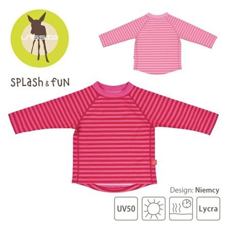 Lassig Koszulka do pływania z długim rękawem Pink stripes UV 50+, 18-24  m-ce