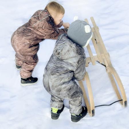 Lodger Skier Botanimal Kombinezon zimowy dla niemowlaka Nutty Fur 6-12 m-cy