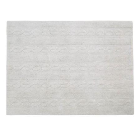 Lorena Canals Trenzas Pearl Soft Grey 80x120cm