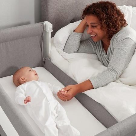Łóżeczko dostawne dla niemowlaka Shnuggle AIR Bedside Crib - dove