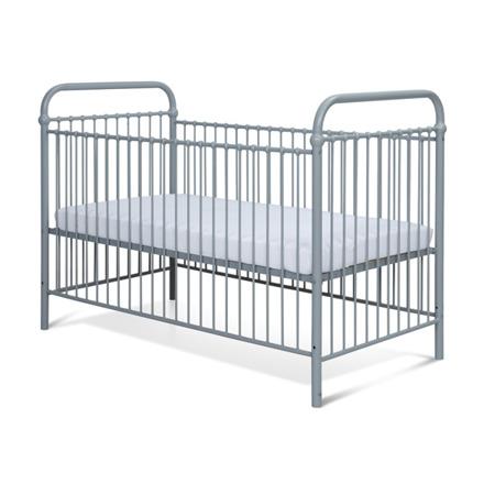 Łóżeczko metalowe dziecięce Mono 70/140 szare