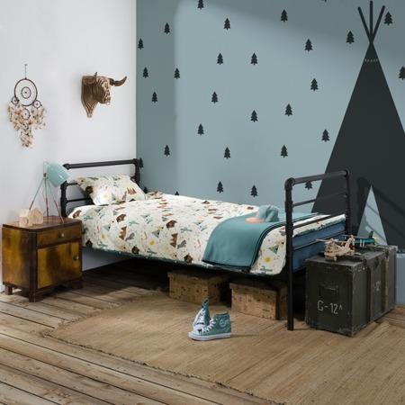 Łóżko industrialne dziecięce Nexus 90/200 czarne