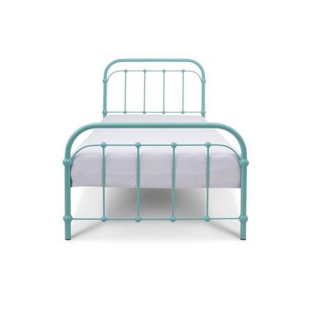Łóżko metalowe dziecięce Babunia 90/200 turkusowe
