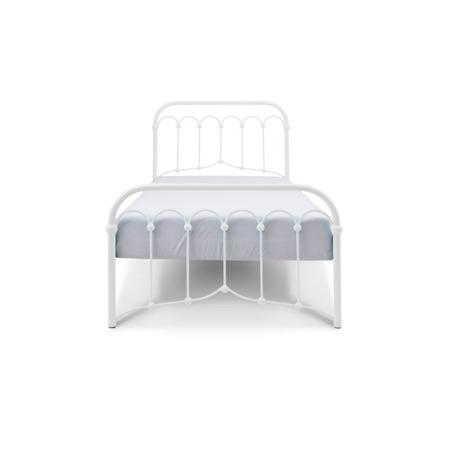 Łóżko metalowe młodzieżowe Avia 120/200 białe