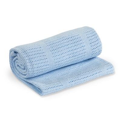 Lulujo, kocyk bawełniany tkany niebieski