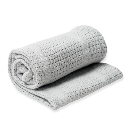 Lulujo, kocyk bawełniany tkany szary