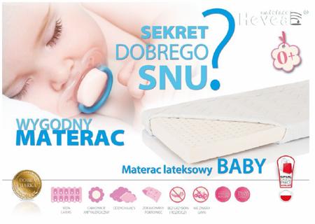 Materac lateksowy Hevea Baby 120/60 Aegis