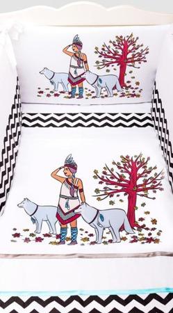 Ochraniacz na połowę łóżeczka, Indianka 30x180cm