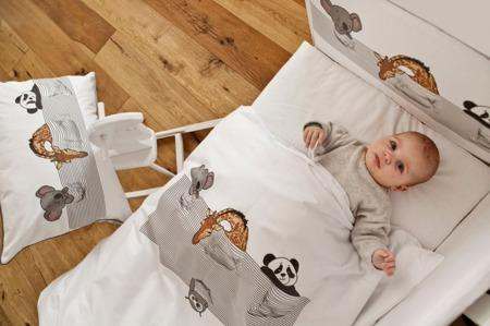 Ochraniacz na połowę łóżeczka, śpiące zwierzątka 30x180cm