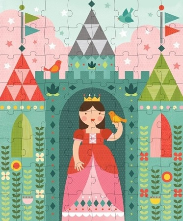 Petit Collage Puzzle w skarbonce Royal Castle