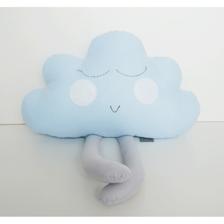 Poduszka Chmurka niebieska z szarymi nóżkami