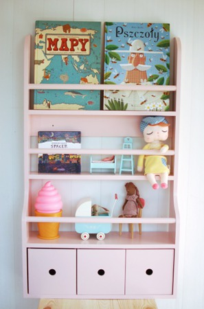Półka ścienna 3 szufladki Kameleon, kolory