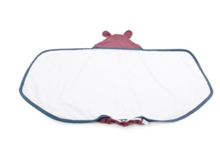 Poofi Duży ręcznik z uszkami denim/bordo