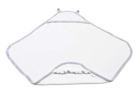 Poofi Ręcznik z kapturkiem bawełniany szara lamówka
