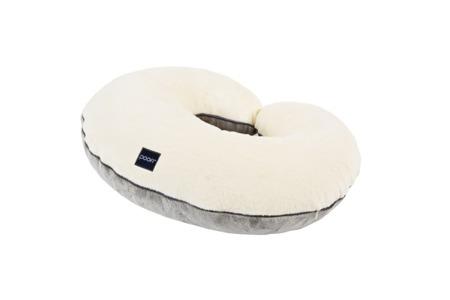 Poofi poduszka do karmienia kremowo-szary