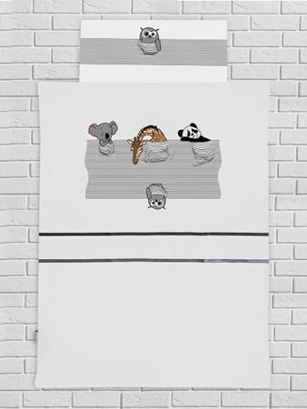 Pościel dziecięca spiące zwierzątka, 135x100cm