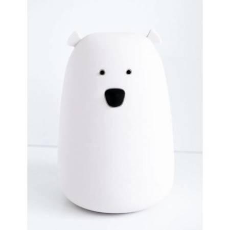 Rabbit & Friends Lampka Miś duży biała z pilotem