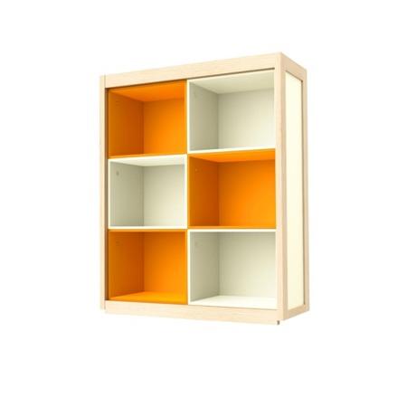 Regał-nadstawka na kredens pomarańczowa Timoore Simple