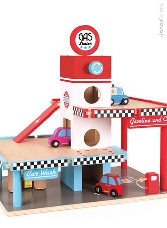 Stacja benzynowa garaż drewniany z 8 elementami, Janod