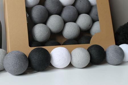 Świecące kule COTTON BALL zestaw Granitove