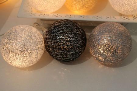 Świecące kule COTTON BALLS  XMAS BROWN, 50 sztuk