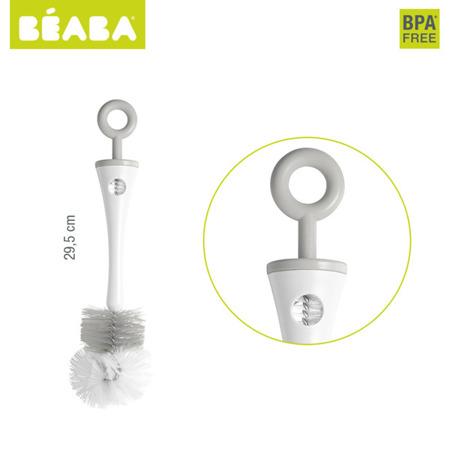 Szczoteczka do butelek i smoczków grey, Beaba