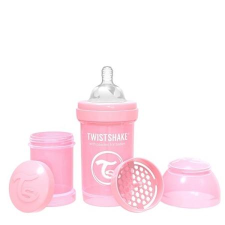 Twistshake Antykolkowa butelka do karmienia 180ml pastelowy różowy