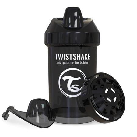 Twistshake Kubek niekapek z mikserem do owoców 300ml czarny