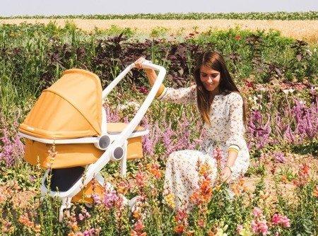 Wózek głeboki Greentom CARRYCOT eko biało-granatowy, 10 kolorów