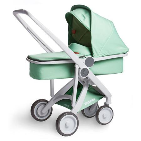 Wózek głeboki Greentom CARRYCOT eko szaro-granatowy, 10 kolorów